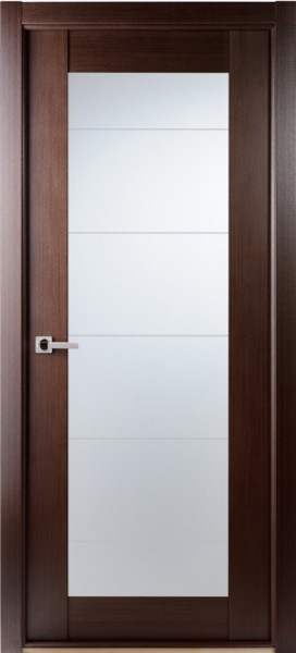 Contemporary African Wenge Interior Single Door Lined