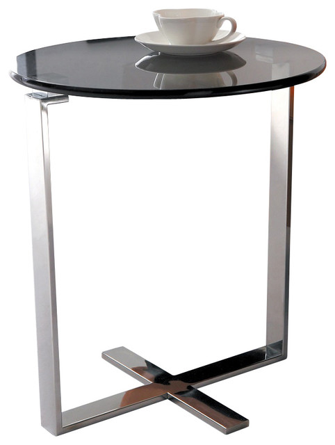 Allen End Table Stainless Steel Contemporary Side