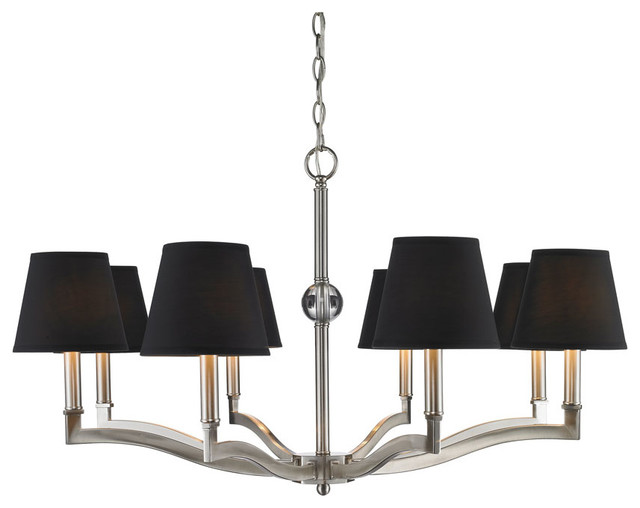 Golden Lighting Waverly Pw Eight Light Chandelier Transitional Chandeliers By Carolina Rustica