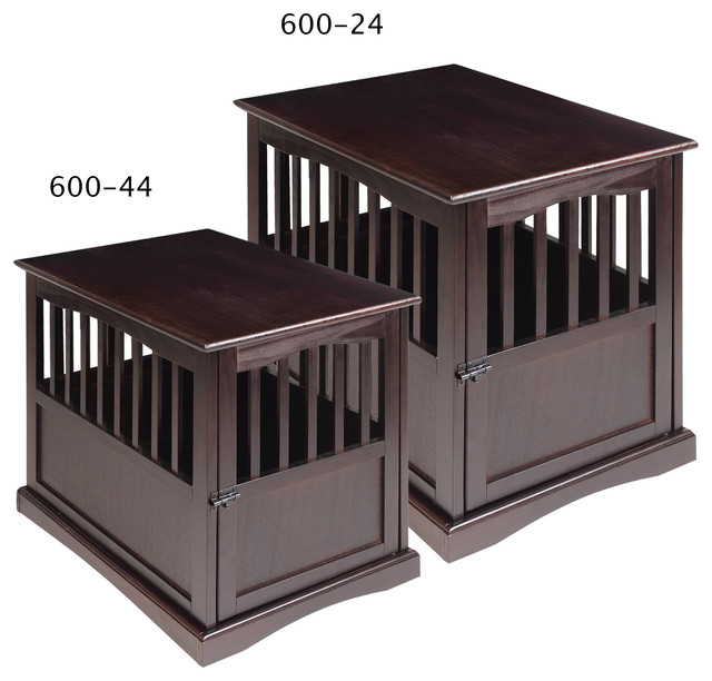 Pet Crate End Table Espresso Transitional Dog Kennels