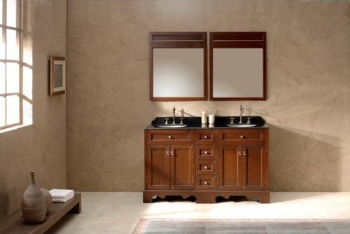 Casoria solid timber double basin vanity traditional for Bathroom remodel under 5 000