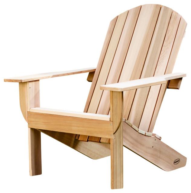 clear western cedar adirondack chair kit rustic