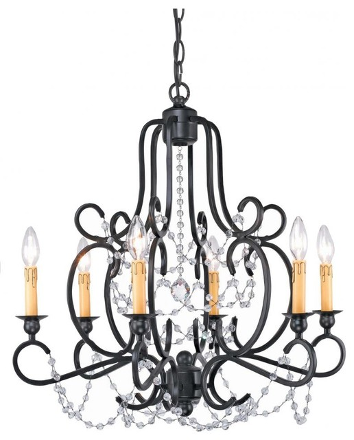 Black Iron Chandelier Lighting
