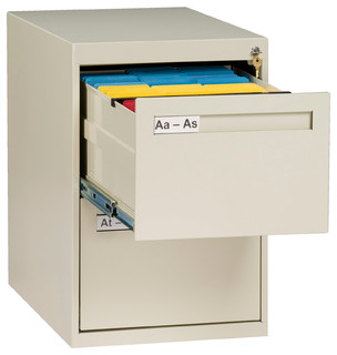 2-Drawer Legal Size Vertical File Cabinet, Putty - Contemporary - Filing Cabinets - by Tennsco Corp