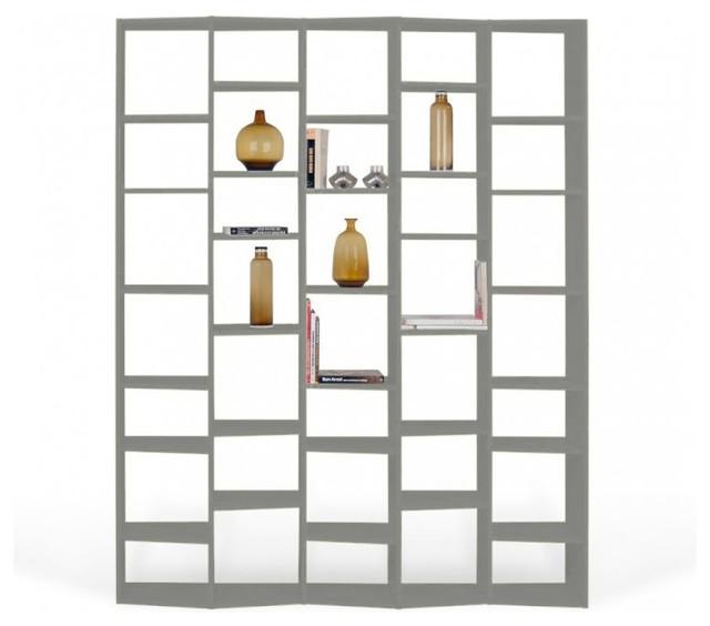 temahome valsa 35 casiers pm biblioth que tag re design laqu e gris mat contemporain. Black Bedroom Furniture Sets. Home Design Ideas