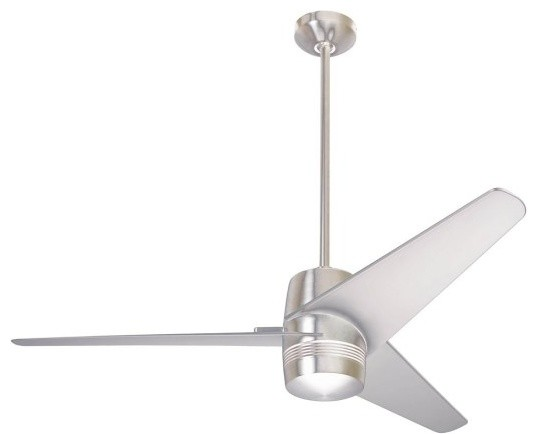 Velo fan bright nickel 50 modern ceiling fans by premium home interior - Modern ceiling fan with bright light ...