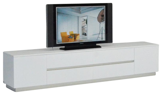 AK588-230 White Crocodile Textured Lacquer Entertainment TV Unit - Modern - Media Storage - by ...