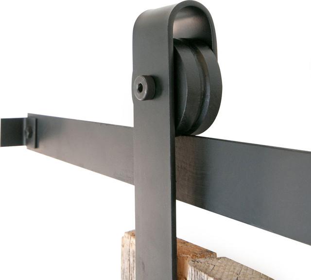 Classic Slide Barn Door Closet Hardware, Rawsteel, 10ft, 2 Roller ...