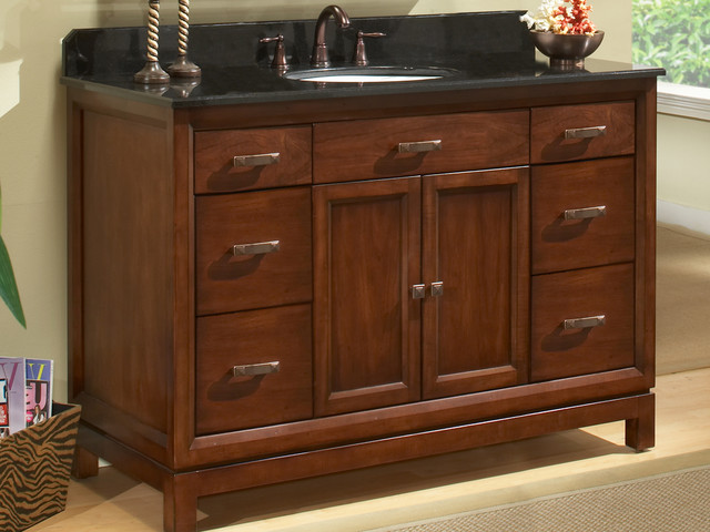 48 modena single bath vanity md4821d traditional for Kitchen set modena
