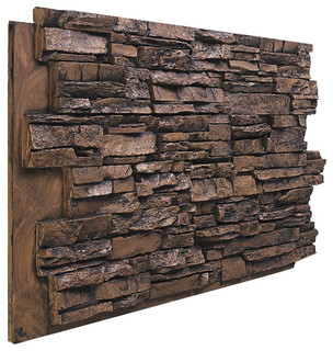 Deep Stacked Stone Wall Panel Aspen Traditional
