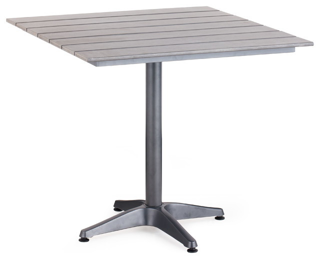 Capital square dining table gray industrial garden for Square industrial dining table