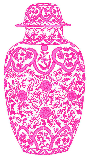 Ming Chinoiserie Ginger Jar by The Pink Pagoda - Asian - Artwork - by ...