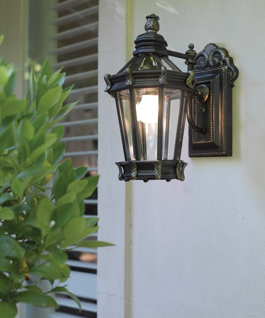 Exterior Wall Sconces Traditional : Alcazar 1 Light Medium Wall bracket in burnt gold - Traditional - Outdoor Wall Lights And ...