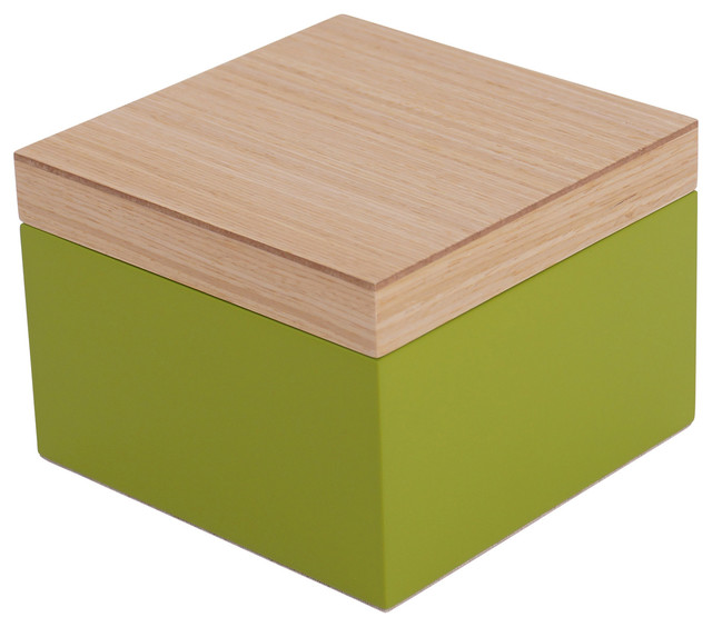 Contemporary Black Jewelry Box Vaxholm Small Green