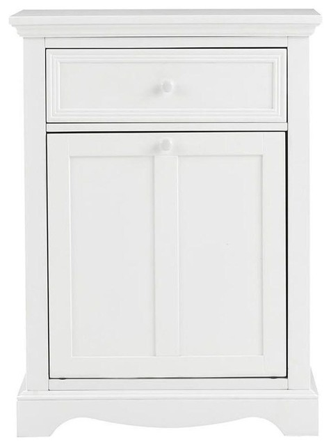 Home Decorators Collection Hampers Fremont 24 5 In W Tilt Out Hamper In White Contemporary