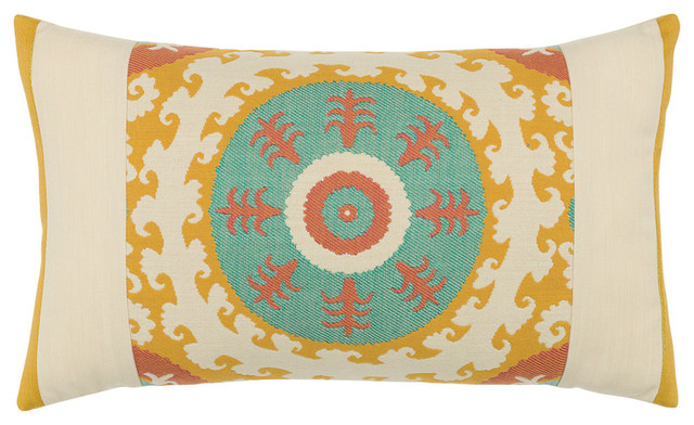 Suzani Candy Lumbar Pillow - Southwestern - Outdoor Cushions And Pillows - by Elaine Smith