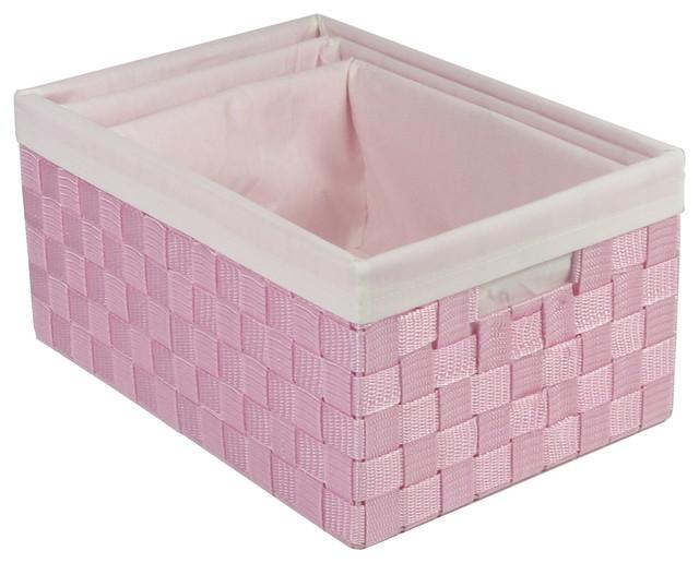 Shop Houzz Redmon  Piece Basket Set Storage Bins And Boxes