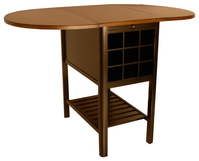 Sullivan Counter Height Drop Leaf Table in Cherry Finish contemporary ...