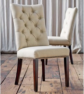 Regina Andrew Tufted Linen Parsons Chair - Traditional - Living Room ...