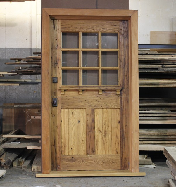 Zander Woodworks Chestnut Dutch Door Rustic Front Doors New York By Zander Woodworks Llc