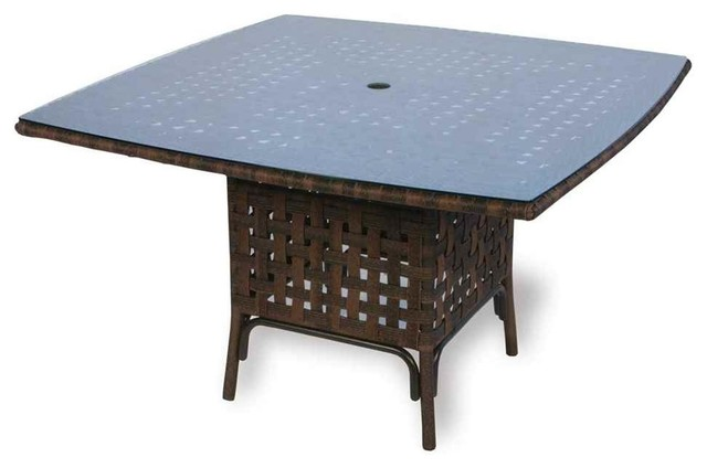 Haven Umbrella Table Marine Blue Tropical Outdoor Dining Tables