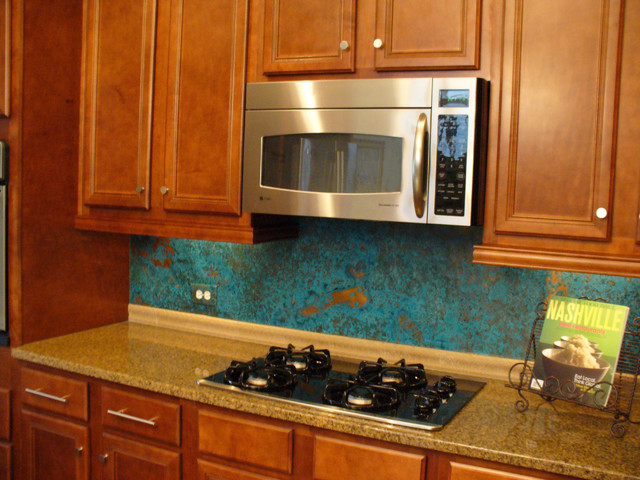 Azul Copper Kitchen Backsplash Rustic Tile Nashville