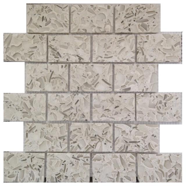 Vetrazzo Mosaic Backsplash Tiles 12 Quot X12 Quot Martini Flint