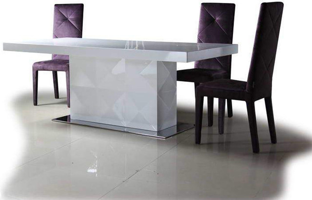 High end rectangular furniture dining room sets for Contemporary dining table designs