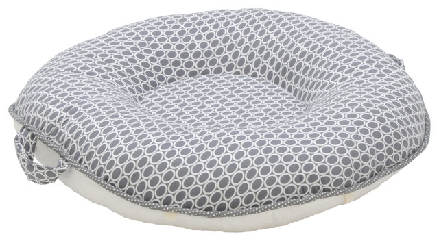 Floor Pillows With Backs : Majestic Pello Floor Pillow, Dark Gray With Ivory Back - Contemporary - Floor Pillows And Poufs ...