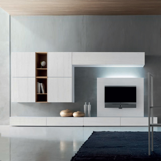 'White I' bespoke TV media unit by Santa Lucia - Modern - Entertainment Centers And Tv Stands ...