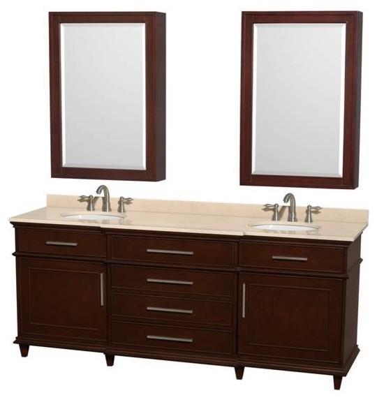 Wyndham Berkeley 80 inch Double Bathroom vanity ...