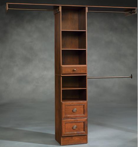 Lancaster Narrow Closet Box in Coach Cherry modern-home-office ...