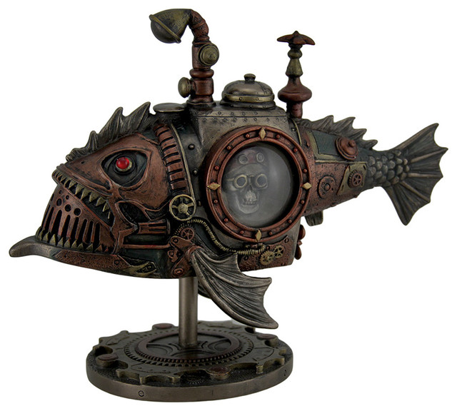 Hand Painted Steampunk Submarine Sci-fi Fantasy Statue - Decorative Objects And Figurines - by ...
