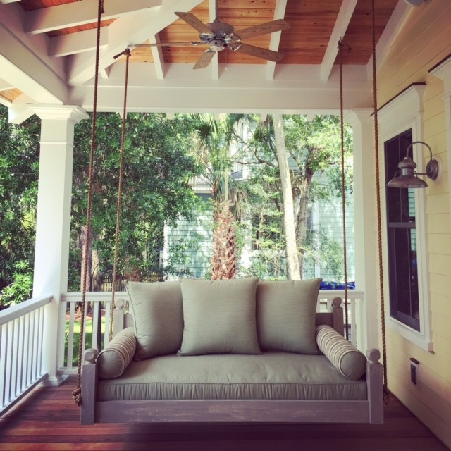 The West Ashley Swing Bed Beach Style Porch Swings