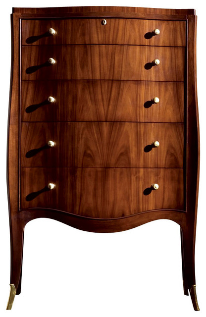 American Drew Bob Mackie Signature Leg Drawer Chest In Rosewood Traditional Dressers By