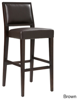 Sunpan Citizen Bonded Leather Bar Stool Contemporary Bar Stools And Kitch