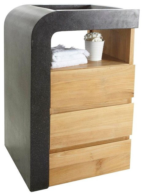 meuble avec vasque en bois de teck 60 mary mei contemporain console et meuble sous lavabo. Black Bedroom Furniture Sets. Home Design Ideas