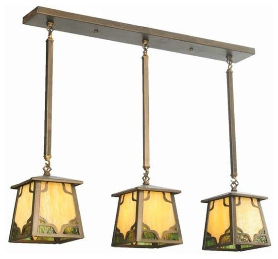 "Kitchen Island Lighting Rustic: Meyda Lighting 37.5""L Kirkpatrick 3 Lt Island Pendant"