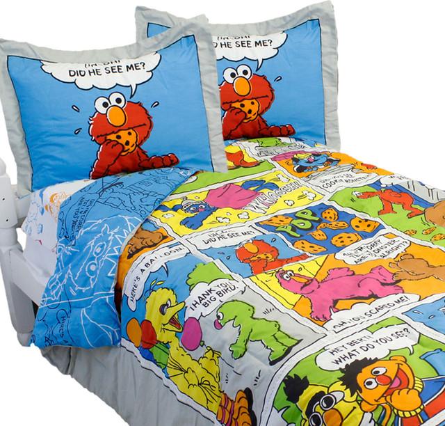 comic strip bedsheet give birth