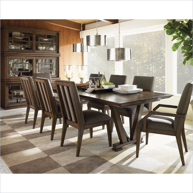 Captivating Lexington 11 South Pinnacle Dining Table In Chestnut Brown