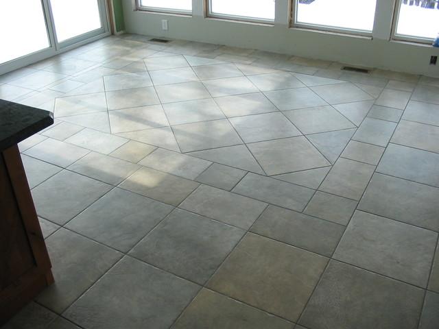 Dining Room Tile Floor Design
