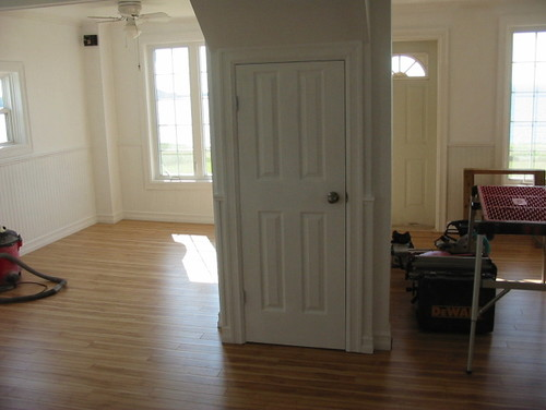need help with staircase in middle of open concept main floor