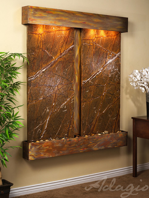 the cottonwood falls wall water fountain wall fountains modern indoor fountains san. Black Bedroom Furniture Sets. Home Design Ideas
