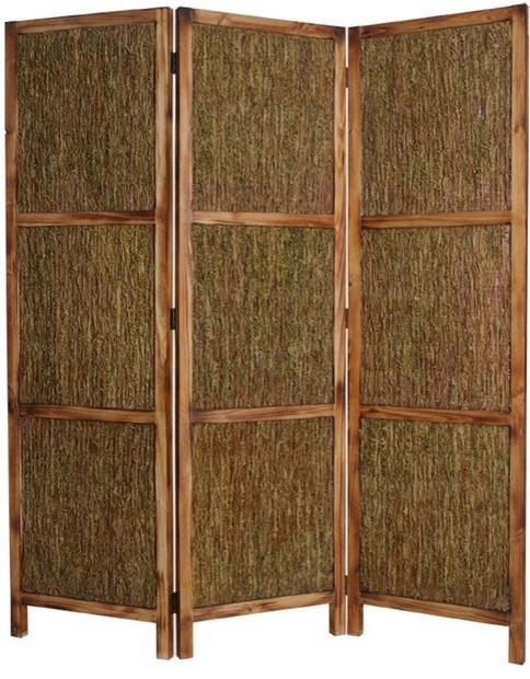 Evergreen 3 Panel Floor Screen Tropical Screens And