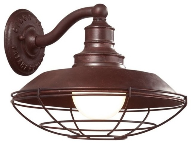 Industrial Exterior Wall Sconces : Troy Lighting Circa 1910 Wall Sconce, Large - Industrial - Outdoor Wall Lights And Sconces - by ...
