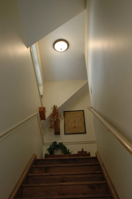 Carriage House Conversion Traditional Staircase