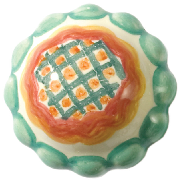 Petit Four Round Knob - Squiggle | MacKenzie-Childs - Eclectic - Cabinet And Drawer Knobs ...