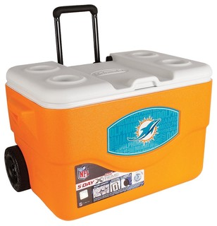 50-quart Xtreme Wheeled Cooler, Miami Dolphins - Contemporary - Coolers And Ice Chests - by Coleman