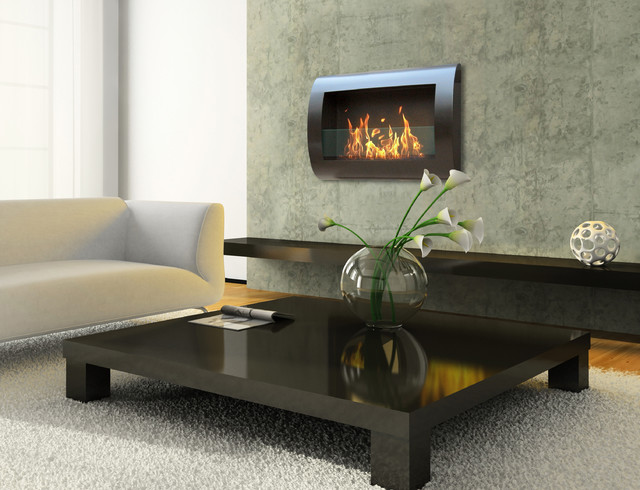 Chesea Wall Mount Bio Ethanol Fireplace By Anywhere Contemporary Indoor Fireplaces Other