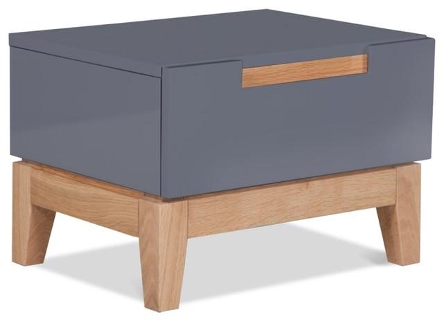 nachttisch dahlia grau bauhaus look nachttische von. Black Bedroom Furniture Sets. Home Design Ideas